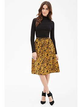ornate-floral-midi-skirt by forever-21