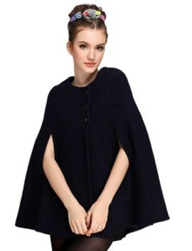 black-wool-blend-cape-coat by choies
