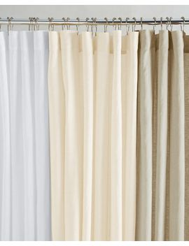 eileen-fisher-washed-linen-shower-curtain by garnet-hill