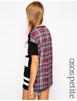 asos-petite-exclusive-baseball-top-with-check-back by asos-petite
