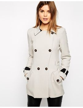 warehouse-crepe-reefer-coat by warehouse