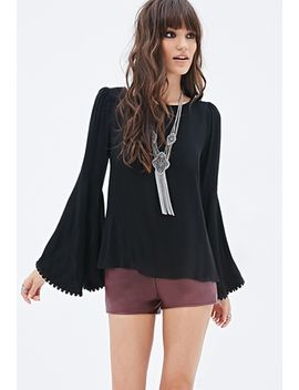 trumpet-sleeved-blouse by forever-21