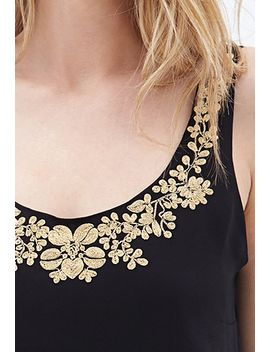 embroidered-sleeveless-chiffon-top by forever-21