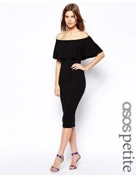 asos-petite-ruffle-top-bardot-midi-dress by asos-petite