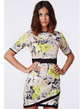 ailish-floral-asymmetric-dress-multi by missguided
