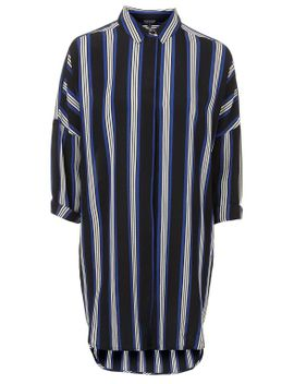 striped-grandad-shirt-dress by topshop