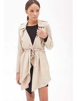 ruffled-open-front-trench-coat by forever-21