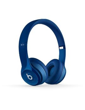 beats-solo2-wired-on-ear-headphone---blue by beats