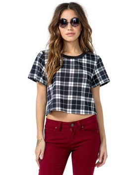 smarty-pants-plaid-crop by agaci