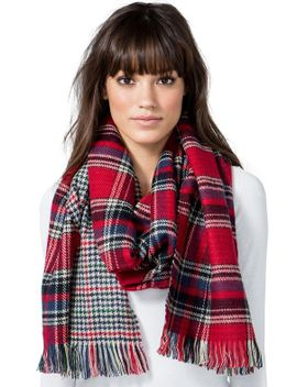checks-&-plaid-dbl-sided-fringe-scarf by agaci
