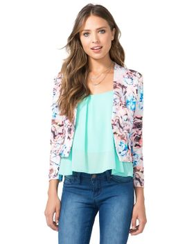 floral-water-color-blazer by agaci