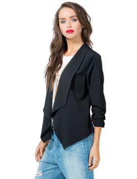 ruche-sleeve-soft-blazer by agaci