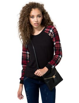 in-a-plaid-sweatshirt by agaci