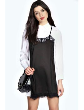 amy-woven-cami-shirt-dress by boohoo