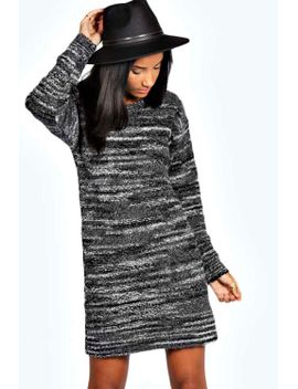 isabella-supersoft-space-dye-laguna-knit-jumper-dress by boohoo