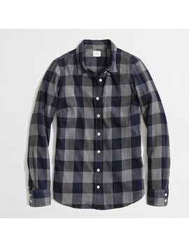 petite-classic-button-down-shirt-in-flannel-in-perfect-fit by jcrew