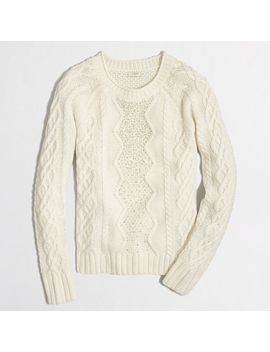 factory-embellished-cable-knit-sweater by jcrew