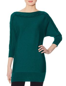 cable-knit-tunic-sweater by the-limited