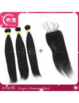 5a-virgin-brazilian--virgin-hair-3pcs-lot-bundles-with-closure-hair-weave-bundles-human-hair-extension by ali-express