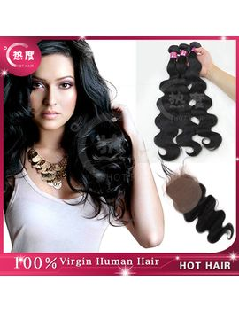 hot-selling-unprocessed-virgin-malaysian-body-wave-4pcs-lot-with-closure-light-bleached-knots-3-bundles-with-4*4-lace-closure by ali-express