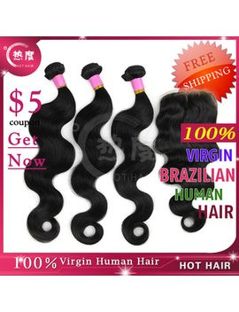 unprocessed-6a-brazilian-virgin-hair-weaves-body-wave-lace-closure-and-bundles-4pcs-lot-hot-hair-products by ali-express