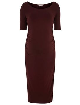maternity-wine-bodycon-dress by dorothy-perkins