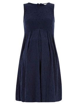maternity-navy-lace-prom-dress by dorothy-perkins