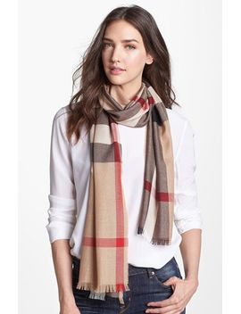 check-scarf by burberry