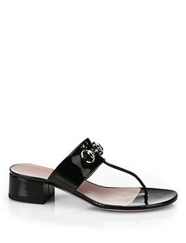liliane-block-heel-patent-leather-sandals by gucci