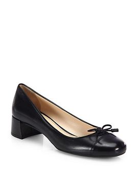 leather-ballerina-pumps by prada