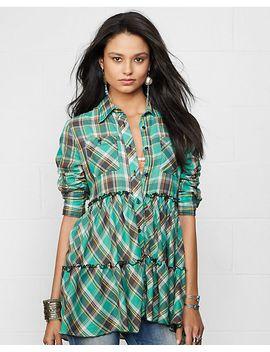 tiered-plaid-shirt by ralph-lauren