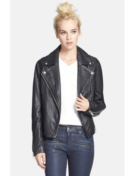 birthday-leather-biker-jacket by topshop