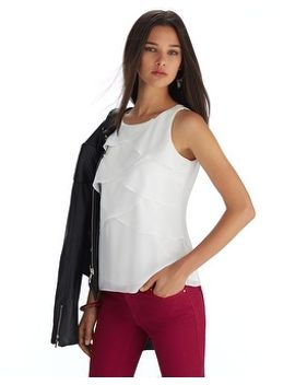 sleeveless-tiered-layering-shell-top by whbm