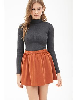 flared-corduroy-mini-skirt by forever-21