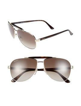 60mm-aviator-sunglasses by salvatore-ferragamo
