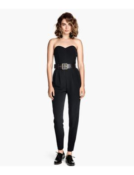 strapless-jumpsuit by h&m