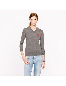 play-comme-des-garçons®-v-neck-sweater by play-comme-des-garçons
