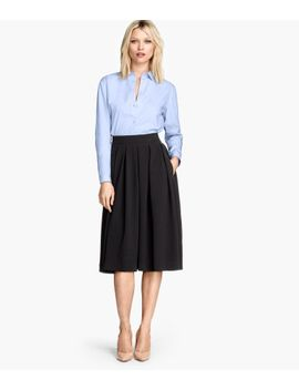 skirt-in-a-textured-weave by h&m