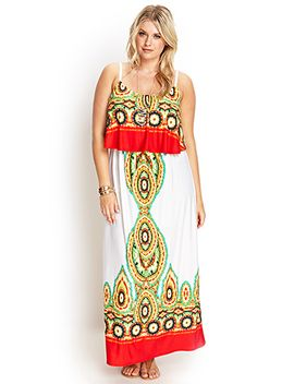 kaleidoscope-flounce-maxi-dress by forever-21