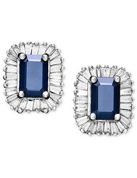 gemma-by-effy-sapphire-(1-1_3-ct-tw)-and-diamond-(5_8-ct-tw)-rectangle-stud-in-14k-white-gold by effy-collection