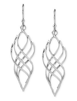 swirled-drop-earrings-in-silver-plated-metal by touch-of-silver
