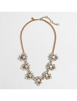 factory-crystal-crowned-triangles-necklace by jcrew
