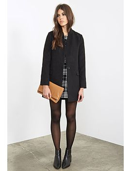 shrunken-collar-longline-overcoat by forever-21