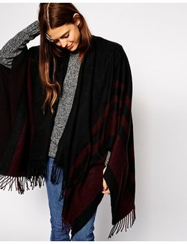 asos-cape-with-burgundy-stripe by asos-collection