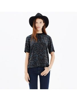 silk-front-row-tee-in-ink-spot-leopard by madewell
