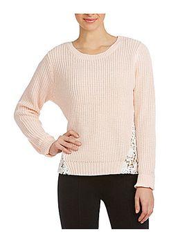 copper-key-crochet-&-lace-sweater by generic