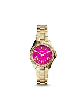 cecile-small-three-hand-stainless-steel-watch---gold-tone   new by fossil