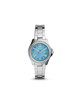 cecile-small-three-hand-stainless-steel-watch   new by fossil