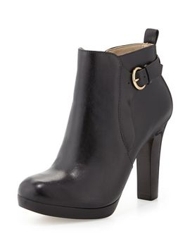 spencer-leather-bootie,-black by neiman-marcus