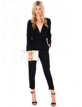 trixette-cross-over-jumpsuit-in-black by missguided